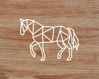 Polygonal Horse Decal