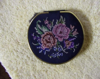 Vintage Embroidered Made in West Germany Compact