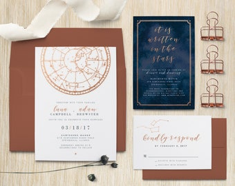 Written in the Stars Celestial Wedding Invitation Suite(DIGITAL FILE)