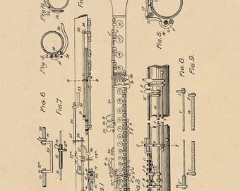 Wind Reed Musical Instrument Patent #583194 dated May 25, 1897.
