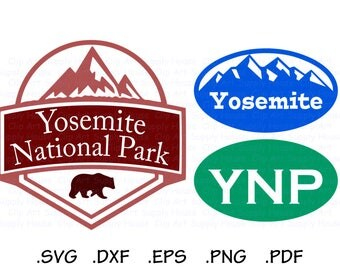 Yosemite National Park SVG File, Parks SVG, Yosemite Silhouette, Yosemite Bumper Sticker, svg file, eps File, Cricut Design - CA438