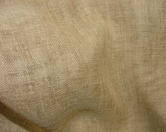 Linen Lead Weighted Voile Net Muslin Curtain Fabric - Extra Wide 300cms