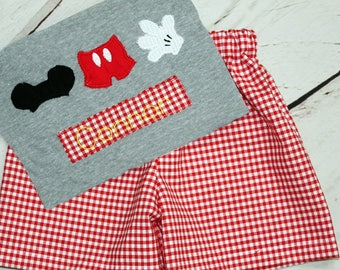 Boys Mickey Mouse Shirt- Toddler boys- Mickey Shirt- Mickey Ears Shirt- Baby Boys- Mickey outfit- 6m, 12m, 18m, 2t, 3t, 4t, 5t, 6