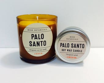 Palo Santo travel candle