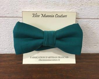 Bow tie, green, Satin cotton