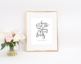 Song of Solomon Wall Print 8x10