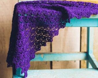 Crochet shawl pattern, Acer shawl crochet pattern designed by The Crochet Project.
