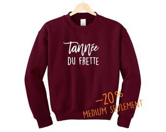 Tannée du frette.Unisex Crewneck Sweatshirt Burgundy Medium Only.Petite Gazelle Atelier