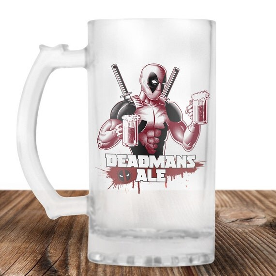 Deadpool - Deadpool Beer Stein - Deadmans Ale - Dead Pool Drinking Beer - Craft Beer Mug -Beer Mug -Beer Lover Gift -Perfect Beer Lover Gift