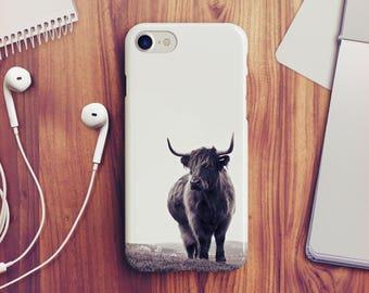 Highland Cow iPhone 7 Case Highland Cow iPhone 8 Case iPhone X Case Cow iPhone 6s Case iPhone 5s Case iPhone SE Case iPhone 8 Plus Case A27