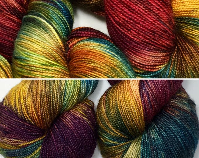 Fall Colors  - Hand dyed on Sassy Silk 150 Sock