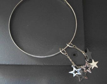 """Bangle with charms """"Falling stars"""""""