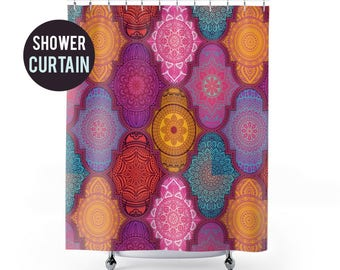 Shower Curtain Colorful Pattern Shower Curtain
