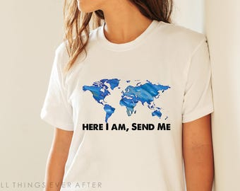 JW Gift | Unisex | Tee Shirt | Here I am Send Me | Pioneer School Gift | Pioneer gift | JW | SKE Gift Present Jw Org ske
