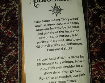 Palo Santo Wood Sticks // single sticks or multi packs // holy wood // incense // purify // cleanse // get rid of evil spirits & influences