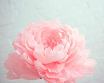 Big Paper Flower - Single Paper Peony - Single Paper Peony - Giant Paper Flower by POMPONI