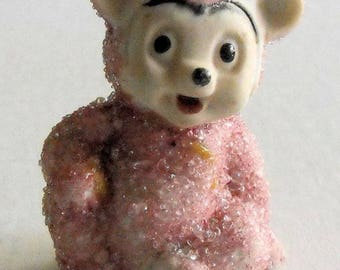 Adorable Tiny Pink Snowbaby Bear Figurine Vintage Japan
