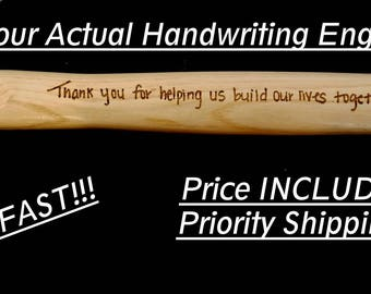 YOUR Handwriting Engraved, Personalized Hammer,Father of Bride Gift, Gift to Dad, Wedding Gift, Custom Hammer,Laser Engraved,Gift from Child