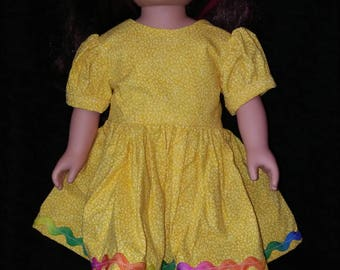 "18"" Doll clothes. Party dress. Doll Clothing. Doll Dresses."