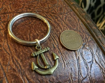 Anchor Key Chain - Silver or Bronze