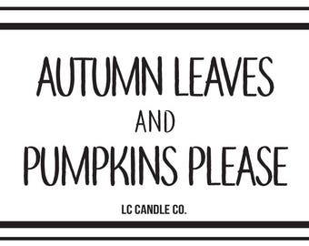 Autumn Leaves | 10 oz Soy Candle