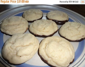 ON SALE: Creamy & Chewy Homemade Chocolate Dipped Cheesecake Cookies (30 Cookies)