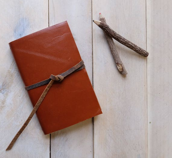 Classic Artist's Leather Watercolor Sketchbook - Tobacco Brown