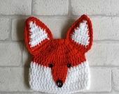 CROCHET FOX PATTERN digital boy fox hat pattern crochet patterns boy crochet fox hat pattern