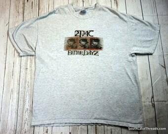 Vintage 2Pac Shirt Better Dayz T-Shirt Rare Hip Hop Shirt Rap Shirt Tupac Shakur Adult XL Extra Large Vintage Rap T-Shirt PAC LA Los Angeles