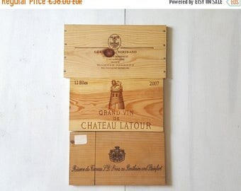 3 FRENCH wood advertised WINE crate Panel from France Ref 13964