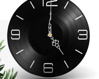 Clock vinyl two layered black & color / / clock