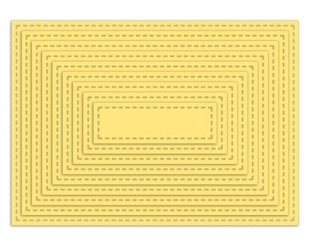 5x7 Nested Stitched Rectangles - SVG