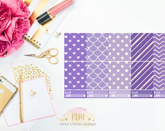 April Full Box Stickers | Planner Stickers designed for use with the Erin Condren Life Planner
