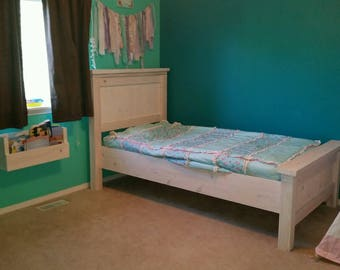 farmhouse twin bed twin bed kids bed rustic bed wood bed - Twin Wooden Bed Frames