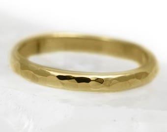 2mm D Profile 18ct Gold 'Glenshee' Wedding Ring