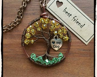 Best Friend, Twisted Tree of Life pendant (adjustable length)