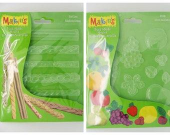 Moule pour Pâte Molle Makin's 16x14cm Fruits ou Frise