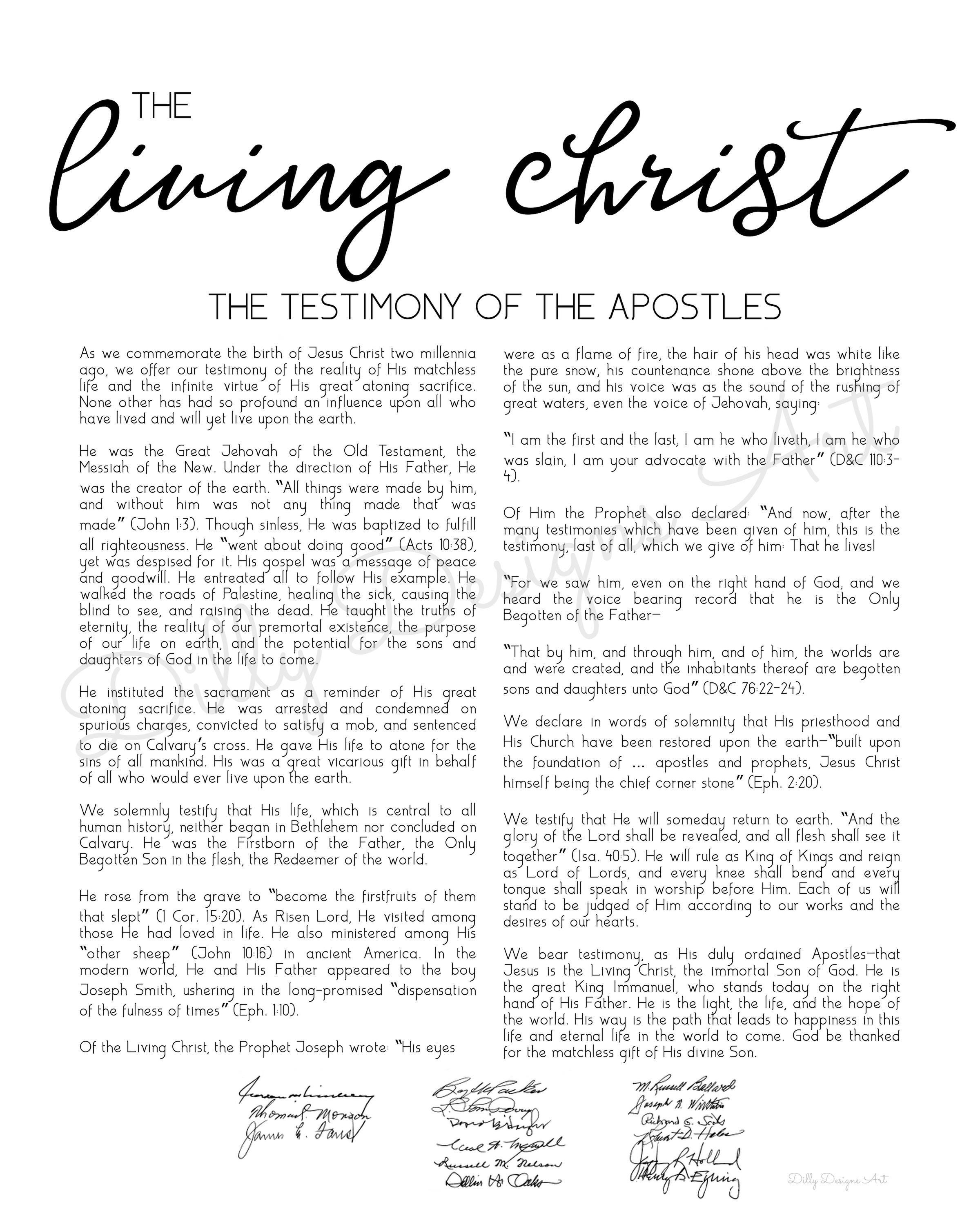 It's just a graphic of Modest The Living Christ Free Printable