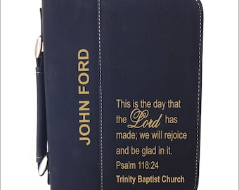 Psalm 118:24 Gift for Christian Son-Daughter-Bible Cover-Case Gift with Engraved Bible Verse for God Child Gift, Religious Gift, BCL029