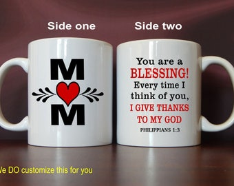 Custom Coffee Mug Gift for Christian Mom-Mother-Mommy-Mama from Son-Daughter, Mom Christmas-Birthday-Mother's Day Gift, MMA007