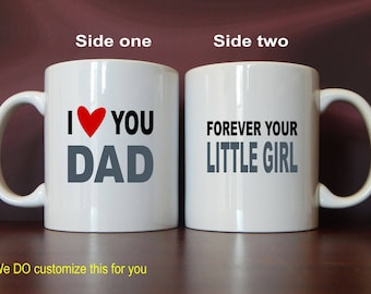Coffee Mug Gift for Daddy from Daughter, Custom Wedding Dad-Papa Gift, Birthday- Fathers Day Forever Your Little Girl Gift,  MDA013