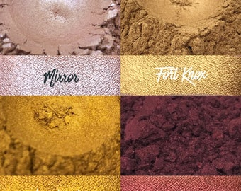 Foiled Bundle, 4 loose pigment shadows, 10 gram jars