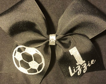 Soccer Bow - with Name & Number