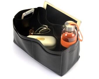 Leather Bag Liner for Mulberry Bayswater, Vegan Leather Organiser, Vegan Leather Purse Insert for Designer Handbags (Ready to Ship)