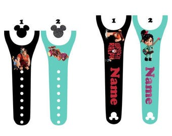 IMPROVED 2.0 Magic Band Decals, Wreck It Ralph, Ralph, Penelope Von Schweetz, Fix It Felix, candy car, bad guy, personalized band
