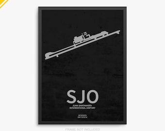 SJO Airport, Juan Santamaría International Airport, San Jose Costa Rica, SJO Airport Poster, San Jose Airport, San Jose Airport Poster, SJO