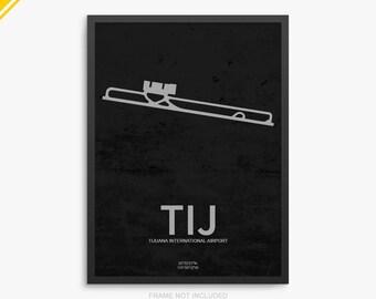 TIJ Airport, Tijuana International Airport, Tijuana Mexico, TIJ Airport Poster, Tijuana Airport, Tijuana, Tijuana Airport Poster, Mexico