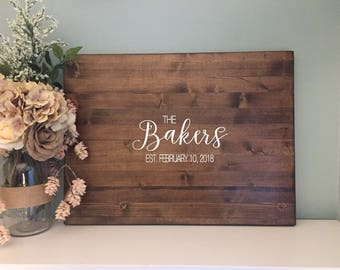 Rustic Wedding Guest Book Alternative /Calligraphy Name Design/ Painted Rustic Wedding Decor Wood Guest Book Sign Country Wedding Gift Guest
