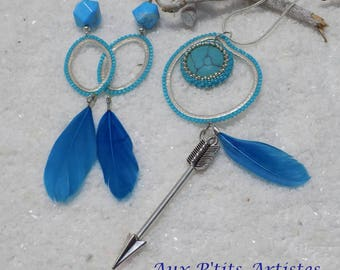 "set pendant and earrings ""Ponemah"""