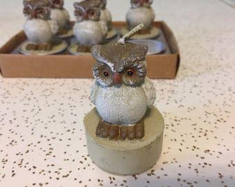 Tiny Owl Candles.